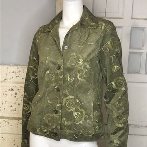 Rafael Faux Suede Embroidered Jacket NWT sz 8